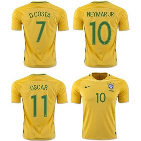 Kit 4 Camisa Blusa Time Brasil Adu. Personalizada Com Nome!!