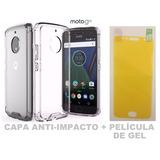 Capa Anti-impacto + Pelicula De Gel Motorola Moto G5s Xt1792