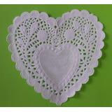 100 Blondas Blancas Corazón De 10cm
