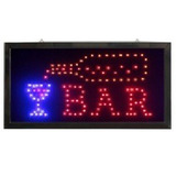 Letreiro Led Painel Luminoso Placa De Aviso Loja - Bar