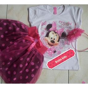 Vestido Conjunto Minnie Tutu Niña O Bella Y Sofia
