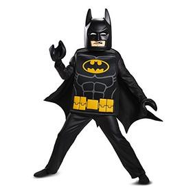 Disfraz Traje De Lujo De La Película De Batman Lego, Negro,