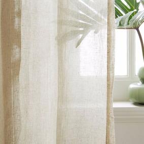 cortinas a medida gasa de hilo lino efvo 20off - Cortinas Lino