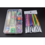Set Kit Crochet 16 Agujas 36 Acesorios Estuche Box