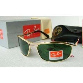 Óculos De Sol Modelo 8012 Dourado Lente Verde Cristal G15 f83593294c