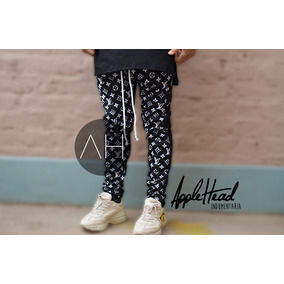 Pantalon Jogging Estilo Supreme Louis Vuitton Unisex