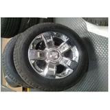 4 Llantas C/rin Aluminio Cromado Con Tapon De Centro 275/55