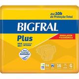 Kit Fralda Geriátrica Plus Tamanho G Bigfral 4x16=64 Unid