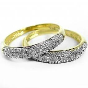 Aparador Em Ouro Amarelo 18k E Diamantes (0,50cts). Código: