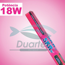 2 Lâmpadas De Led Tubular T-8 18w Rosa + Azul 120cm + Brinde