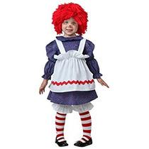 Disfraz Para Niña Niño Poco Traje De La Muñeca De Trapo 4t