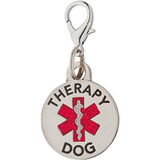 Doble Cara De Raza Pequeña Etiqueta Perro De La Terapia Con