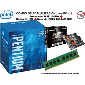 Combo Actualizacion Intel Pentium G4400+mother H110+ddr4 4gb