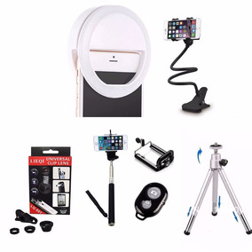 Luz Selfie Ring Light Anel Led Flash Celular + Kit Youtuber
