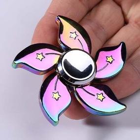 Hand Spinner Metal Flor Rainbow Colorida Raro Promoção