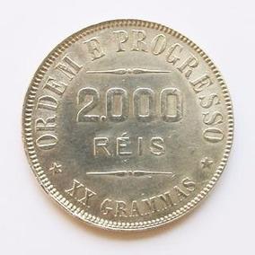 Moeda Prata 2000 Réis Republica 1911 Xx Grammas Original