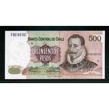 Ofertón # 220, Billete Chileno De $ 500 No Circulado Mint