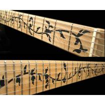 Sticker Vinil Guitarra Inlays Arbol De La Vida Negro
