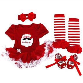 Conjunto Navideño En Color Rojo Incluye Zapatos
