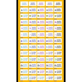 Etiquetas Autoadheribles Para Escuela, Ropa, Casa, Oficina