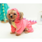 Disfraz Perro Halloween Pequeño Dragón Capucha Rosado Mascot