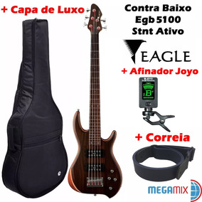 Contra Baixo Eagle Egb5100 Stnt + Capa + Afinador + Correia