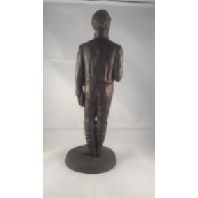 Figura De Bronce (macizo) José Artigas Alto 31 Cm,firmado.
