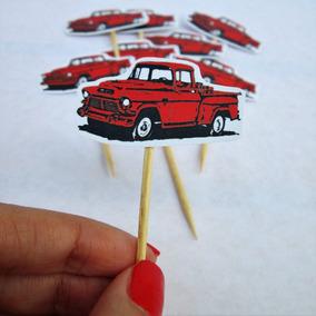 Toppers Postres Carros Vintage Camionetas Garage (docena)