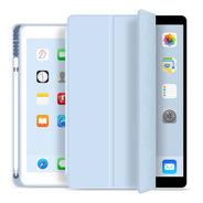 Capa Smartcase P/ iPad 8ª Geração Suporte Pencil Azul Claro