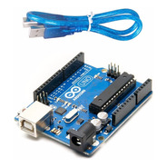 Arduino Uno R3 Original + Cable Usb Chip Desmontable Atmel