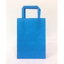 Bolsa Papel Lisas Azul Ideal Sorpresita Cumple 14x20