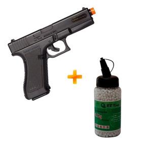 Pistola Airsoft Glock G7 Kwc Spring Gun - 6 Mm + 2.000 Bbs