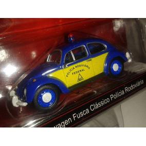 Miniatura Vw Fusca Polícia Rodoviária Federal 1:64 Novo !