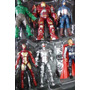 Set 6 Muñecos Avengers Hulkbuster Capitan America Thor Hulk