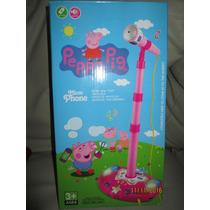 Microfono Infantil Peppa Pig De Pie Simple Parlantes Y Luces