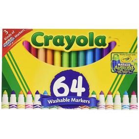 Crayola - 64 Canetinhas Laváveis - 3 Tipos De Canetinhas