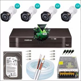 Kit 4 Câmeras Intelbras G3 Dvr 4 Canais Intelbras