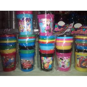 Vasos Con Tapa Infantil X 4 Minions Mario Macha Cumpleaños