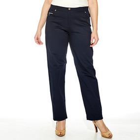 Pantalón De Gabardina Con Cierre Mujer Mamyblue