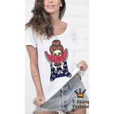 Baby Look T- Shirt Mulher Fashion Com Melancia Personalizada