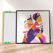 Quadro Canvas Premium 40x40 - Feminista Mulhers Históricas 1