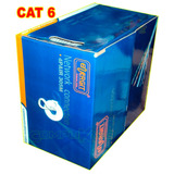 Cable De Red Utp Cat. 6 Energit Color Gris Caja X 305 Metros