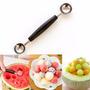 Colher Dupla Sobremesa Sorvete Frutas Raspar Côco