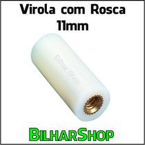 Virola Com Rosca 11mm Para Taco Sinuca Bilhar Snooker Sola
