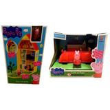 Kit Peppa Pig Original : Casinha Casa Com Jardim + Carro