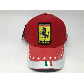 Boné Ferrari Motogp Vermelho Estrelas Ajustável Aba Curva f70dd6ae999