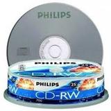 Pack 25 Cd-rw Vírgenes Regrabables Audio Philips Nuevos
