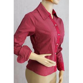 Blusa O Camisa Slim Fit Cuello Frances Tela Algodon