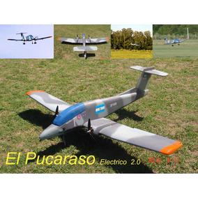Avion Pucara Radio Control 1,8m Enverg Bimotor Completo