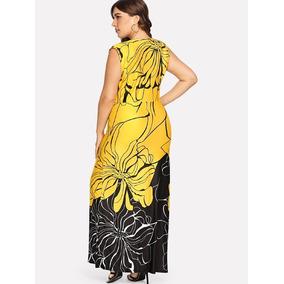 Vestido Amarillo, Largo, Tallas Extras 3xl, Tallas Grandes